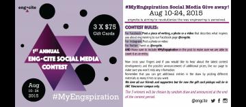 Social Media Contest – August 10 – 24, 2015
